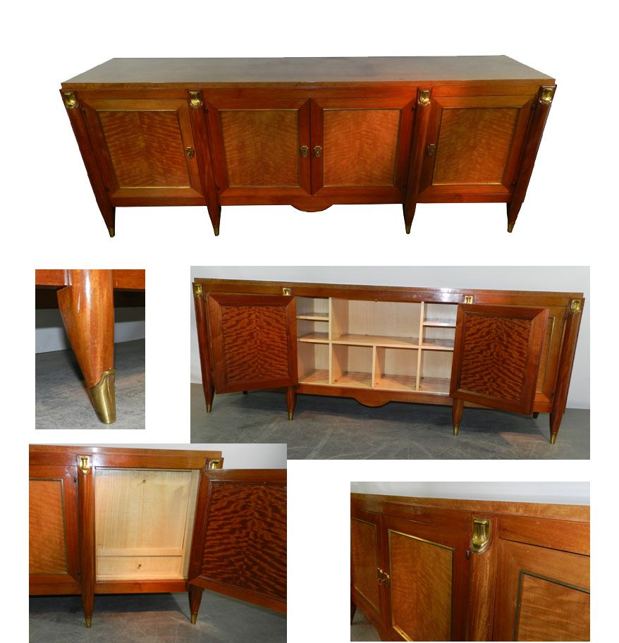 Ad 683 Maurice Jallot Luxueuse Enfilade Art Deco Acajou Vers 1940 Art Deco Enfilade Deco
