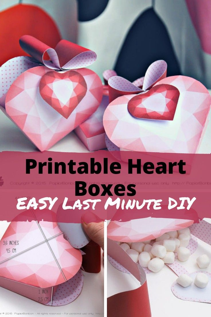 Print & create a beautiful heart favor box. Make your gift extra ...