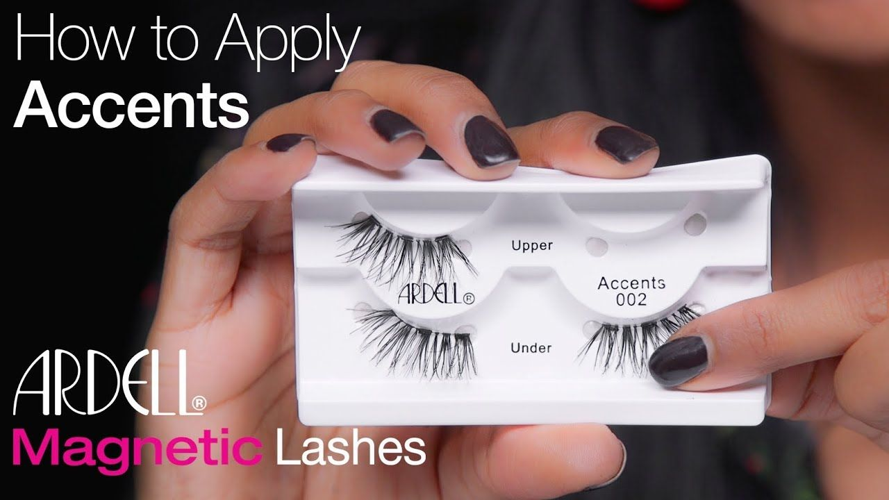 how to apply magnetic lashes ardell
