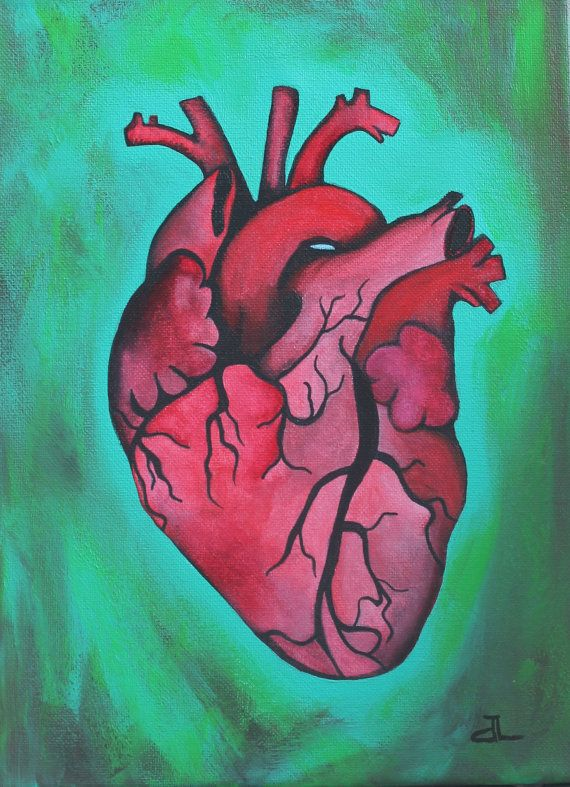 Beating Heart Anatomical Human Original Acrylic by ...