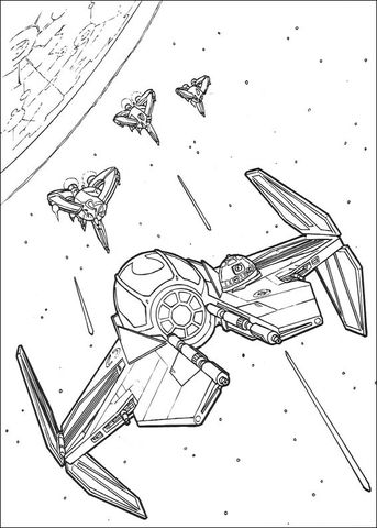 Anakin Skywalker\'s Eta-2 starfighter coloring page from Revenge of ...