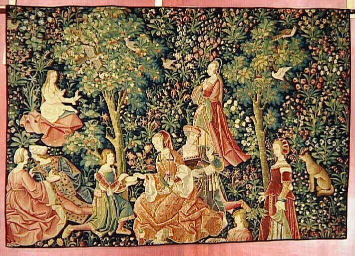 Assez Tenture de la Dame à la Licorne, entre 1484 et 1500, Paris, musée  VB12