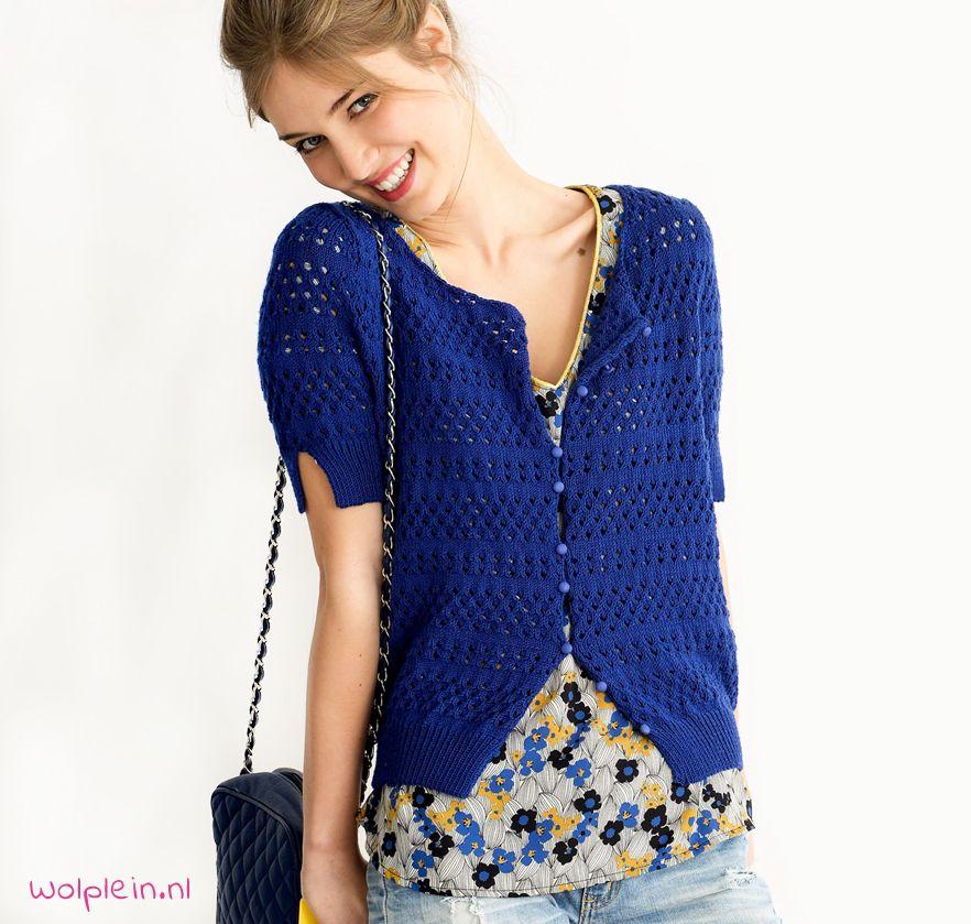 Beroemd Zomers ajour vestje breien | Crochet yarn, Crochet and Diy crochet DD69