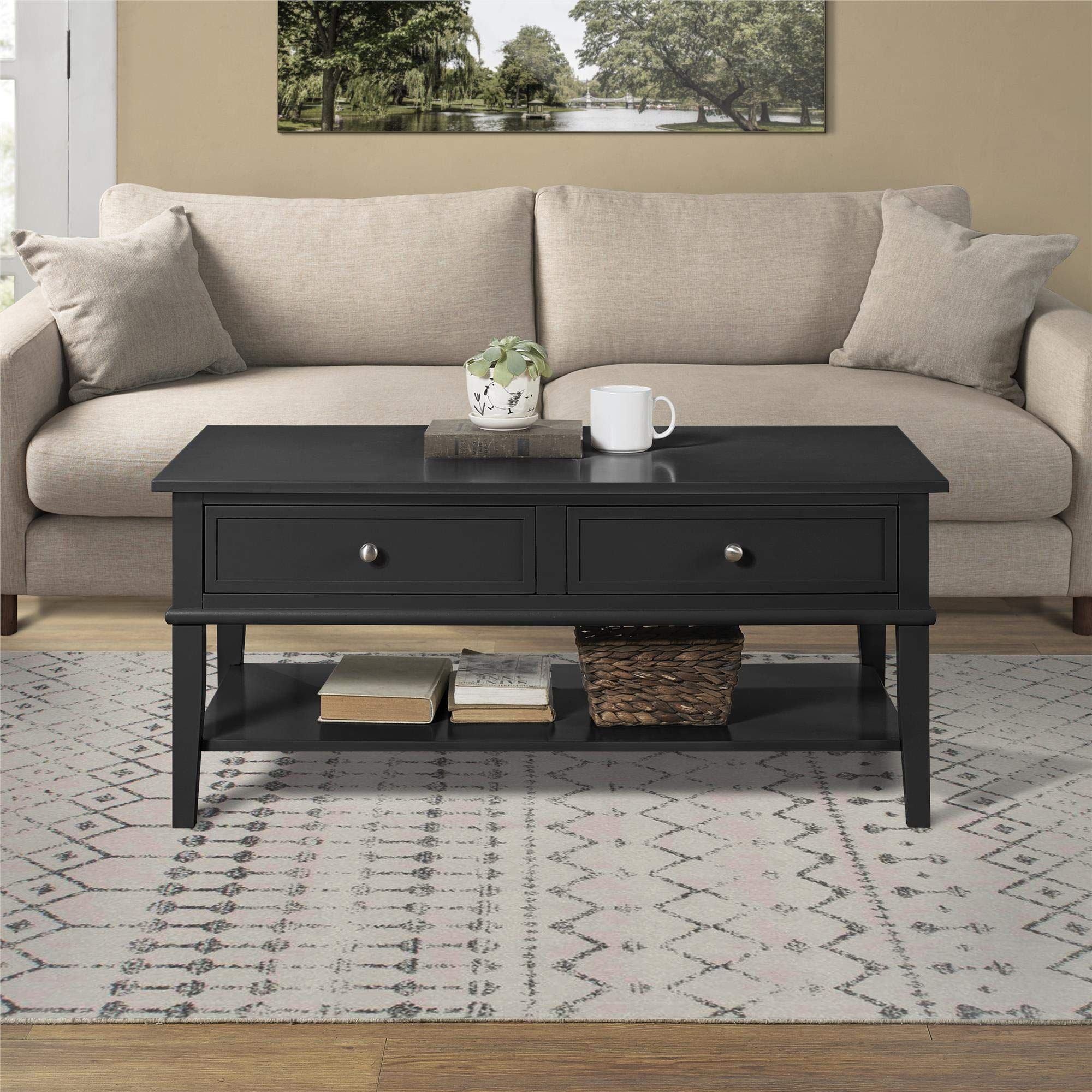 Ameriwood Home 7917872com Franklin Coffee Table Black Click On