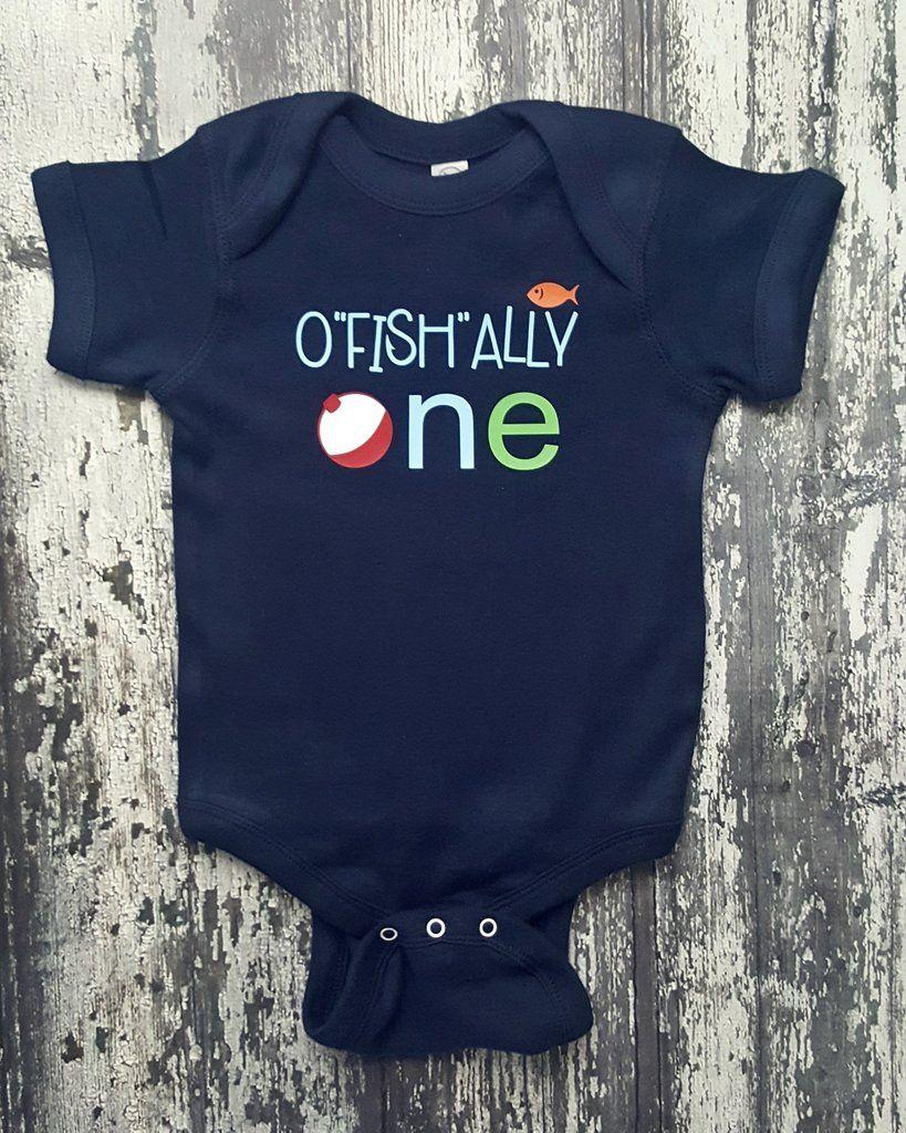 O Fish ally One First Birthday Baby Bodysuit