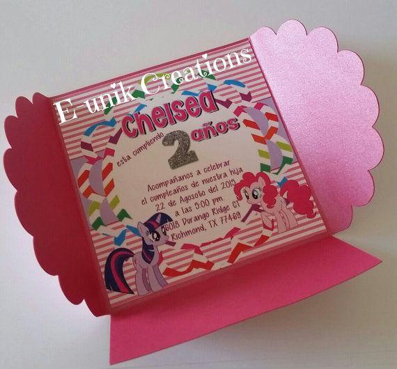 My Little Pony Invitations Birthday Inivtations By