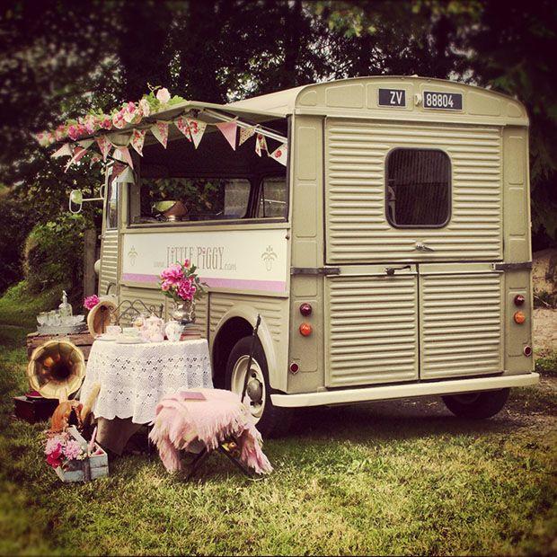 Back Of Little Piggy Wedding Catering Van