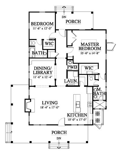 Allison Ramsey Architects   Floorplan for Whisper Creek Cottage ...