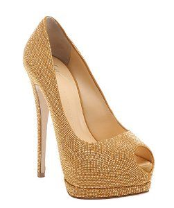 Giuseppe Zanottiambra beaded 'Sharon' platform peep toe pumps