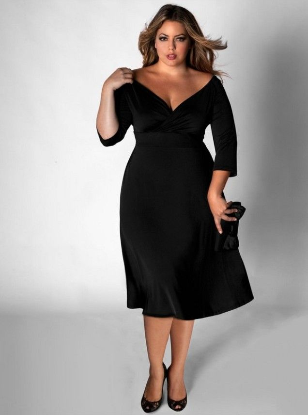 Look Sexy with a plus size little black dress | Little black dress ...