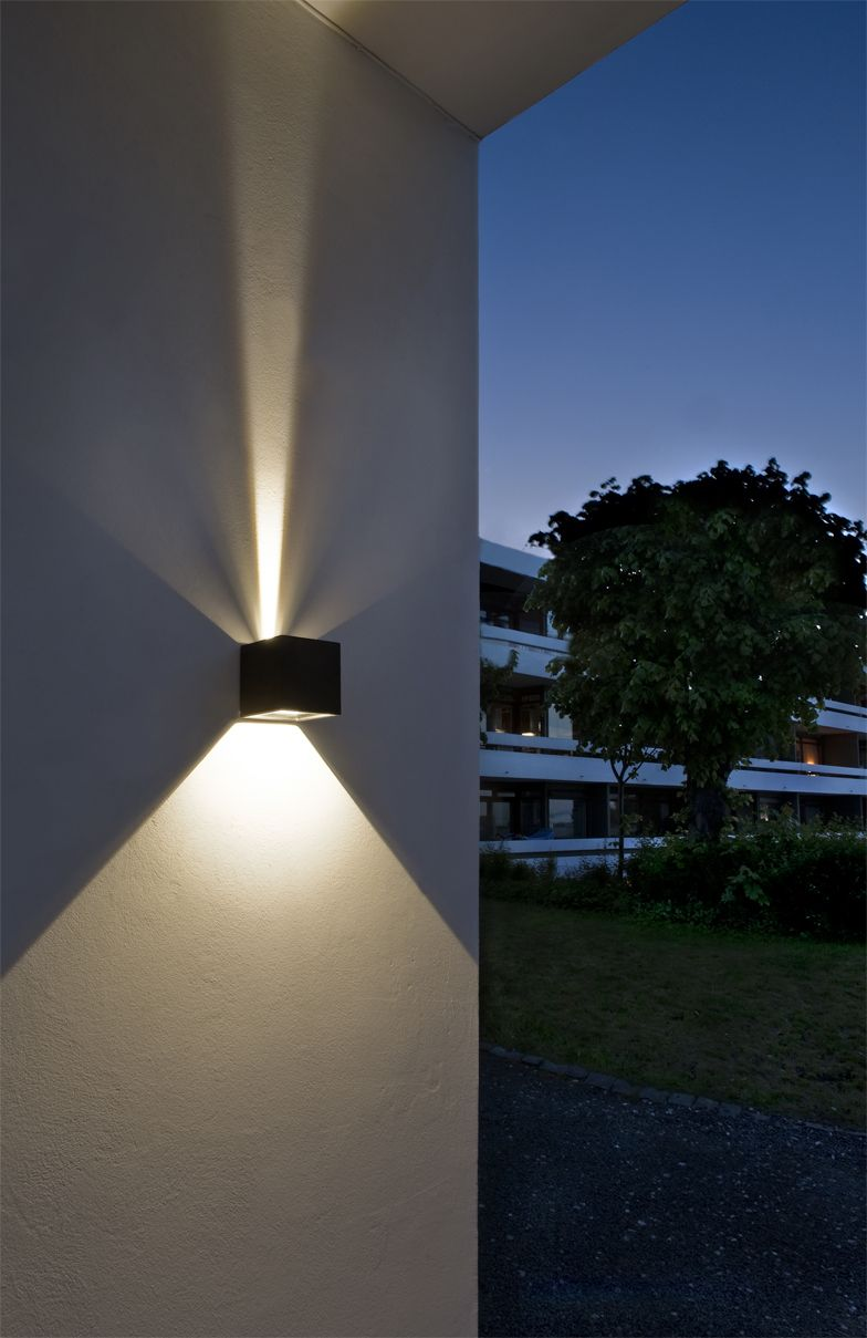 Cube led outdoor wall lamp from lightpoint as design ronni gol