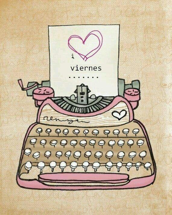 Viernes Maquina De Escribir Laminas Para Decoupage Ilustraciones