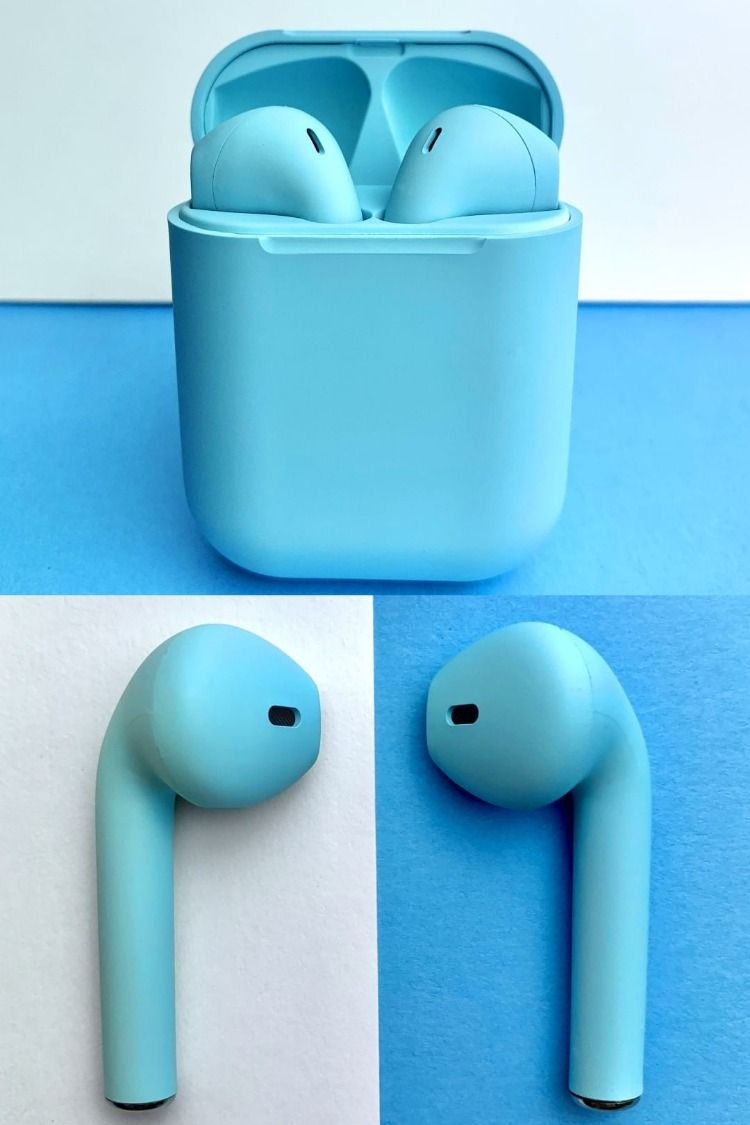 My Colour Pods Blue Iphone Earbuds Apple Earbuds Case