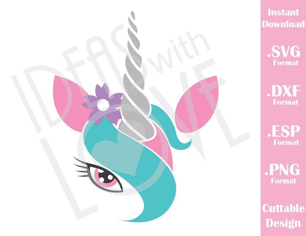 Unicorn Girl Cutting File In SVG, ESP, DXF And PNG Format