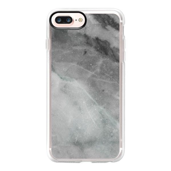 Elegant grey marble - iPhone 7 Plus Case And Cover (£32) ❤ liked on Polyvore featuring accessories, tech accessories, iphone case, apple iphone case, iphone cover case, iphone cases and clear iphone case