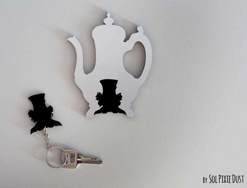 Mad Hatter, Alice in Wonderland Silhouette Key Holder