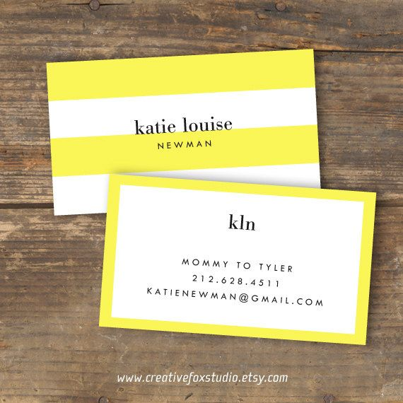 Calling Card Or Business Lemon Luxe By Creativefoxstudio 10 50