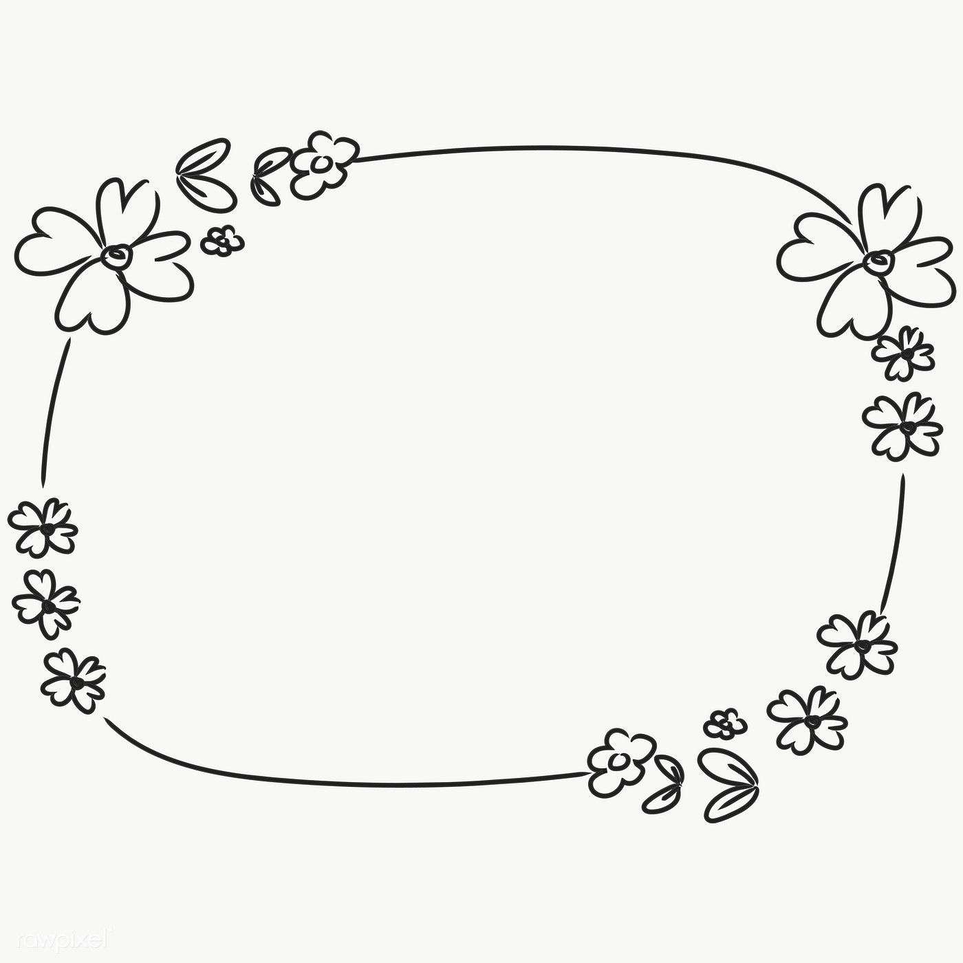 Hand Drawn Flower Wreath Transparent Png Free Image By Rawpixel Com Pimmy Hand Drawn Flowers Flower Drawing Flower Wreath Illustration
