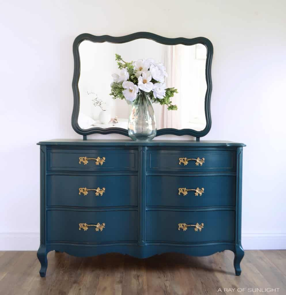Navy Blue French Provincial Dresser Country Chic Paint Blog