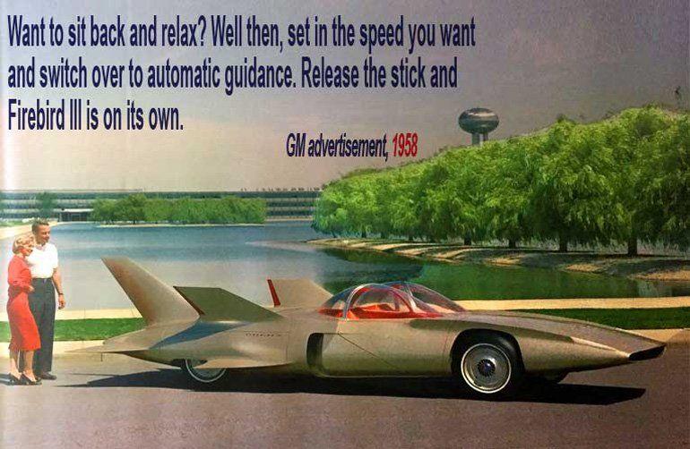 1958 GM Firebird III advertisement via Twitter