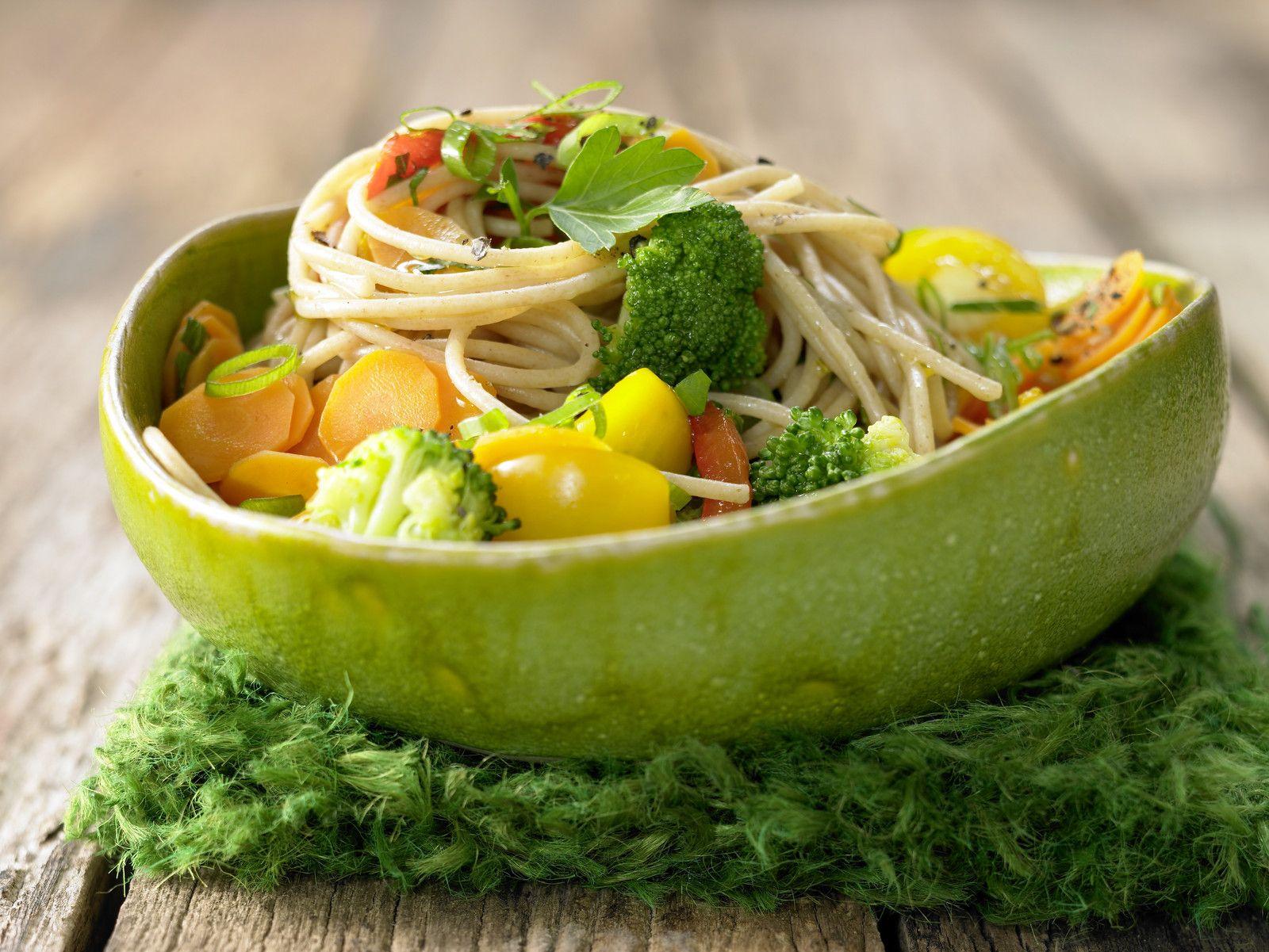 Gemüse-Spaghetti   Rezept   Leckere vegane Rezepte   Food ...