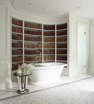 Books Shelve in the Bathroom. Whahaha! This is so great!