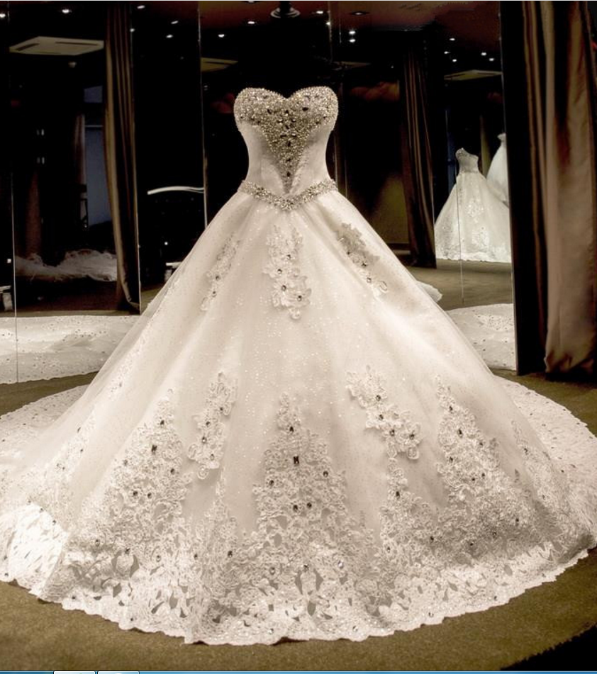Beaded ball gown wedding dress  Gorgeous Luxury Beaded Ball Gown Wedding DressesBridalDresses