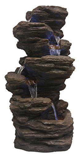 Major Q Decoration Fengshui Rock Like Waterfall Fountain With Led Light 32 Tall Find Out More About The Great Produ Waterfall Fountain Fountain Led Lights