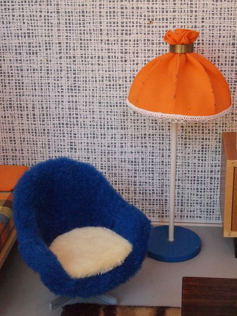 60er Bodo Hennig Puppenstube - Stehlampe und Drehsessel by diepuppenstubensammlerin, via Flickr