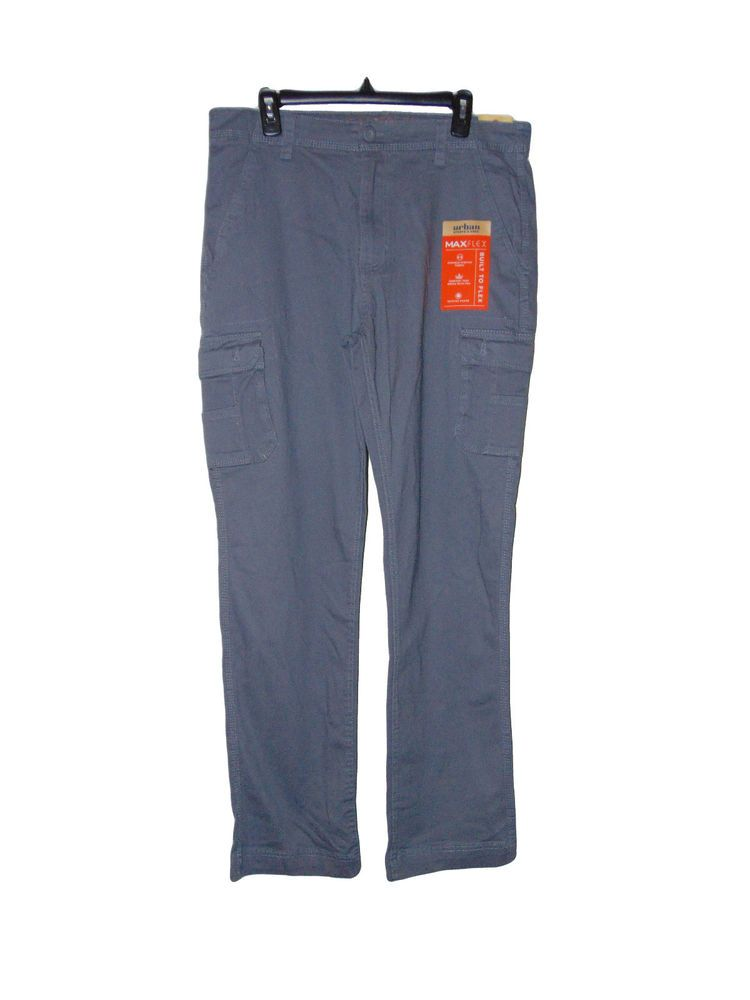 9ef901f61 Mens Cargo Pants Size 34 X 34 Gray Nwt Urban Pipeline Maxflex Relaxed  #UrbanPipeline #Cargo