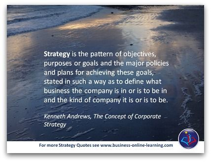 This Quote On Strategy Is By Kenneth Andrews And Beautifully