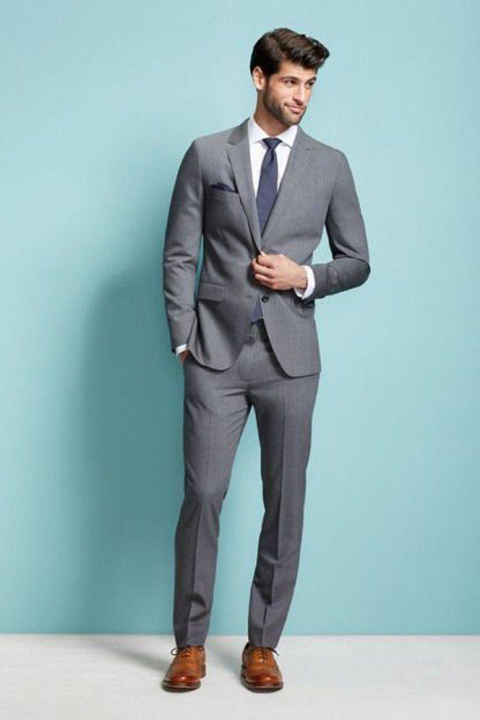 les hommes et la mode 2016, costard gris pas cher