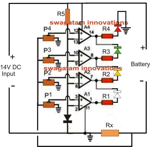 Homemade Circuit Projects  Battery Current Indicator