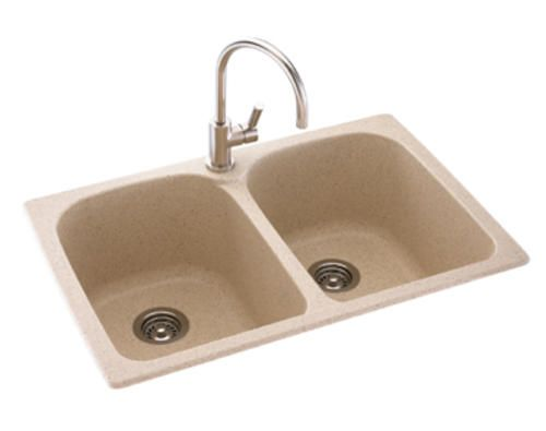 Swanstone Super 10 D Double Bowl Kitchen Sink At Menards With