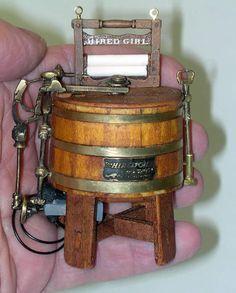 Dollhouse Miniature Washer #miniaturefurniture