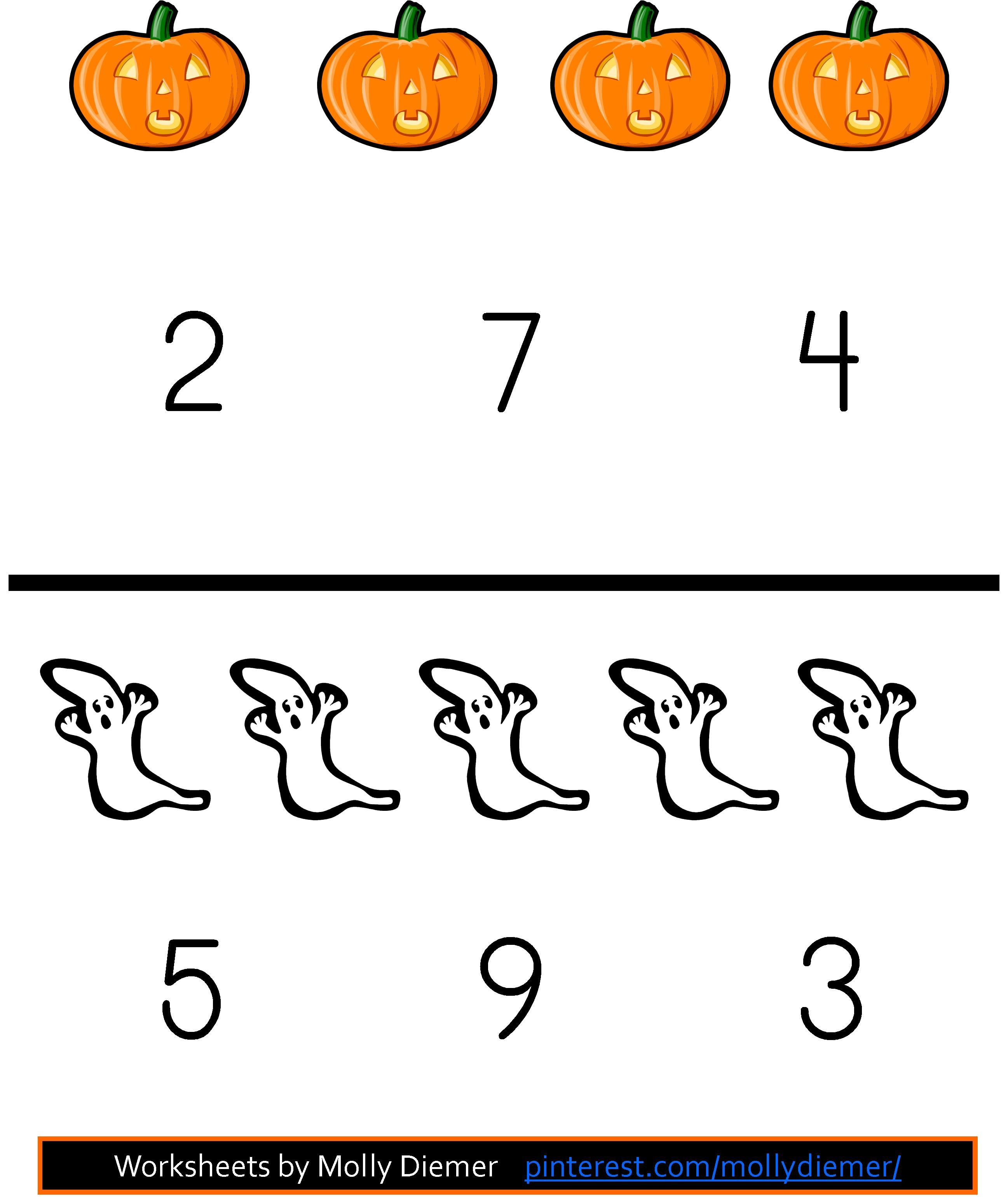 Halloween Counting Worksheets 0 10 Help Your Child