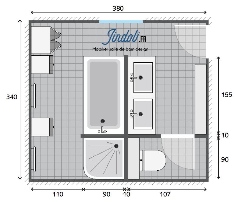 Exemple Plan De Salle De Bain De 13m2 Plan Salle De Bain Salle De Bain 6m2 Amenagement Salle De Bain