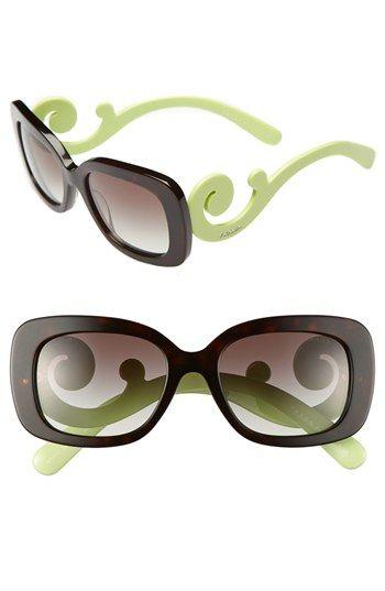 b32bf7305ea7 Prada - Tortoise Shell / Green - 'Baroque' 54mm Sunglasses - available at  #Nordstrom