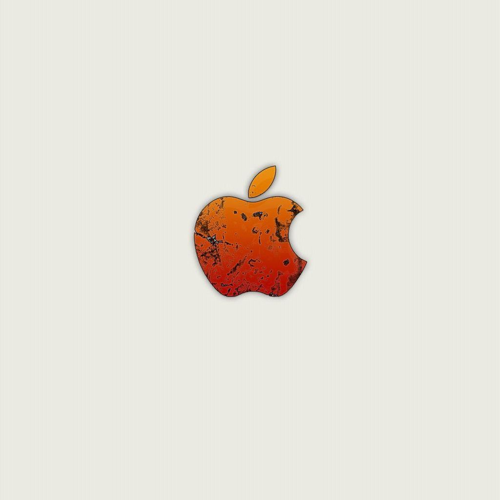 Orange Apple logo iPhone Wallpapers Download Wallpaper