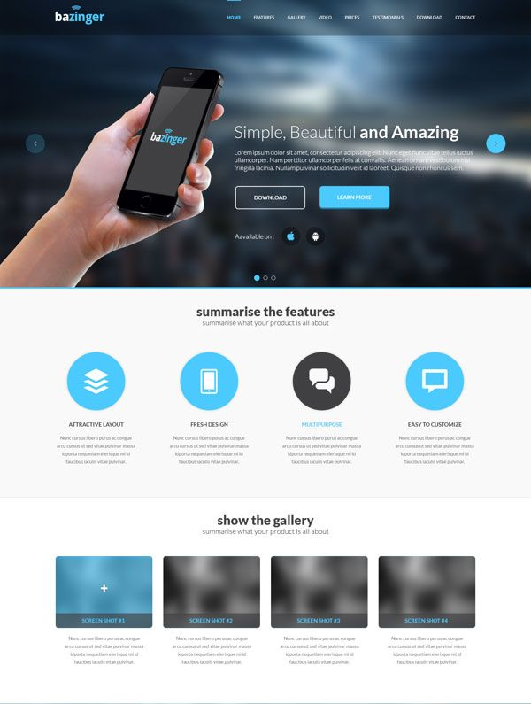 A showcase of 35 Best Free Landing Page PSD Templates fully ...