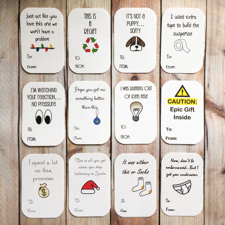 Funny Christmas Gift Tags PRINTABLE, Humorous Holiday Package ...