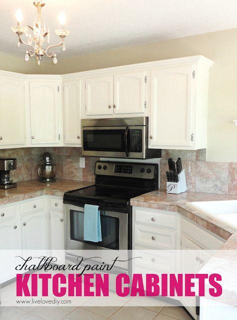 La pintura de pizarra del gabinete de cocina Makeover | cocinas ...