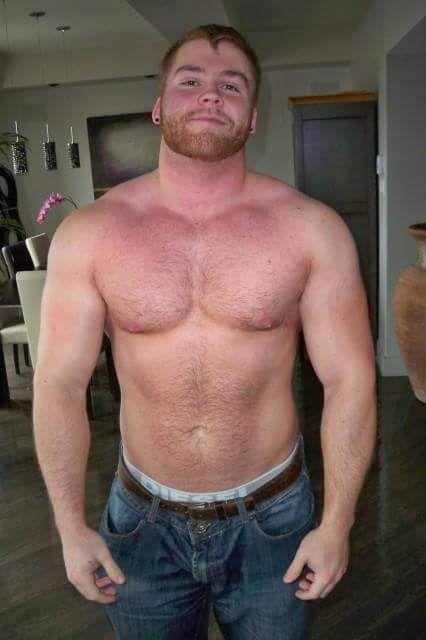 beefy balding dilf beats his meat