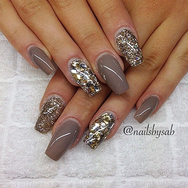 neutral glam nails fancy fingers