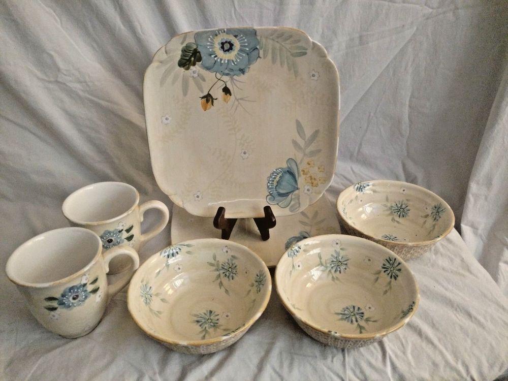 superior Pfaltzgraff Vintage Floral Part - 11: Vintage Floral Pfaltzgraff 7 Pieces 2 Dinner Plates 3 Soup-Cereal Bowls 2  Mugs #Pfaltzgraff