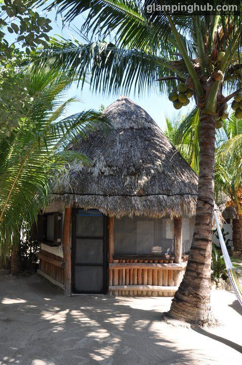 Beach Huts On Isla Holbox Of Mexico