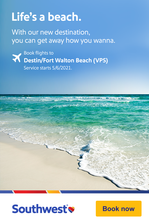 Destin/Fort Walton Beach-a new destination from Southwest®.