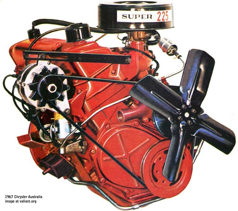 225 slant six 3 7 litres chrysler valiant inline