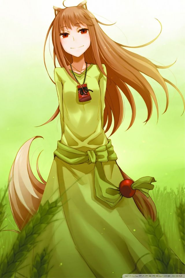 Iphone Animespice And Wolf Wallpaper Id Spice And Wolf Holo Spice And Wolf Anime