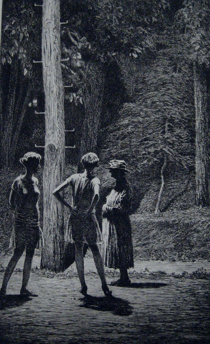 Martin lewis under the street lamp 1928 etching